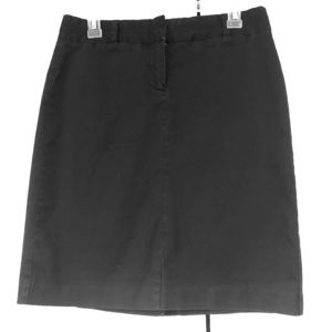 J crew stretch cotton pencil skirt size 6 black